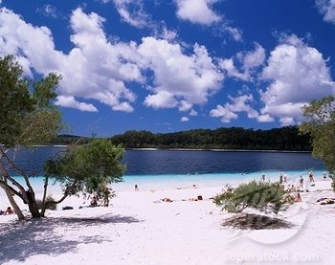 Blue Lake Fraser Island QLD AU