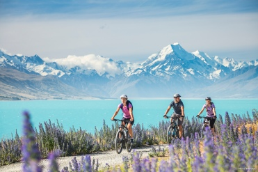 Lake Pukaki Neuseeland Bike