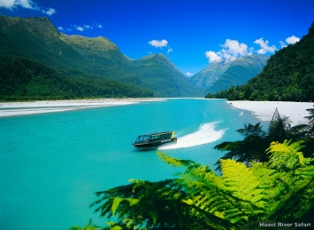 Haast River Safari Queenstown Neuseeland