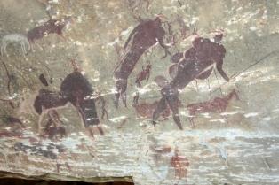 Sanmalereien Giants Castle Drakensberge Südafrika