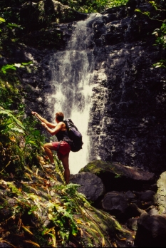 Wasserfall Raiatea Taha