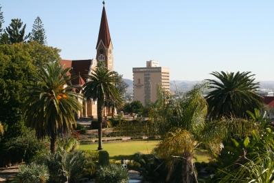 Namibia, Windhoek, Christus Kirche, Kalahari Sands Hotel