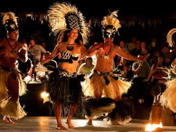 Over Water Night Show Rarotonga Cook Islands