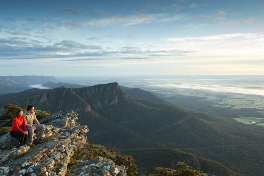 Ausblick vom Grampians Nationalpark Victoria Australien VIC