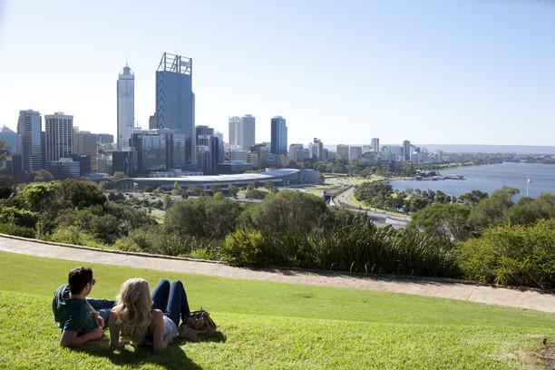 Blick auf Perth vom Kings Park Westaustralien WA
