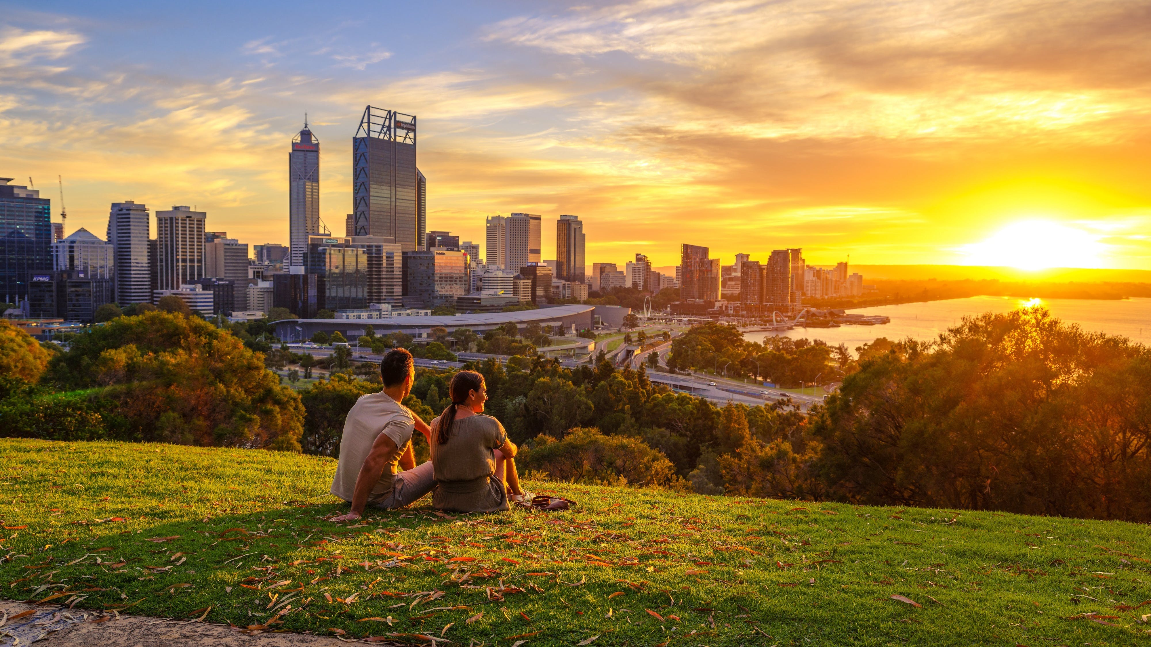 Sunset in Perth Kings Park Westaustralien