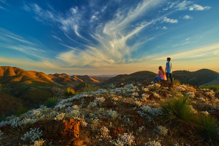 Aussicht in den Flinders Ranges Südaustralien SA Australien