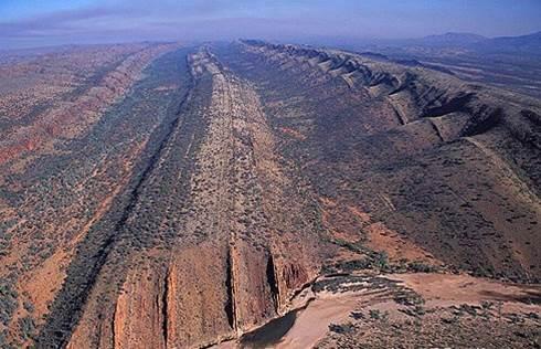 Luftaufnahme West MacDonnell Ranges Northern Territory Australien