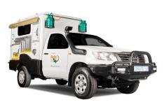 Britz 4WD Camper Single Cab Trax MTX TX Frontansicht geschlossen Südafrika Namibia