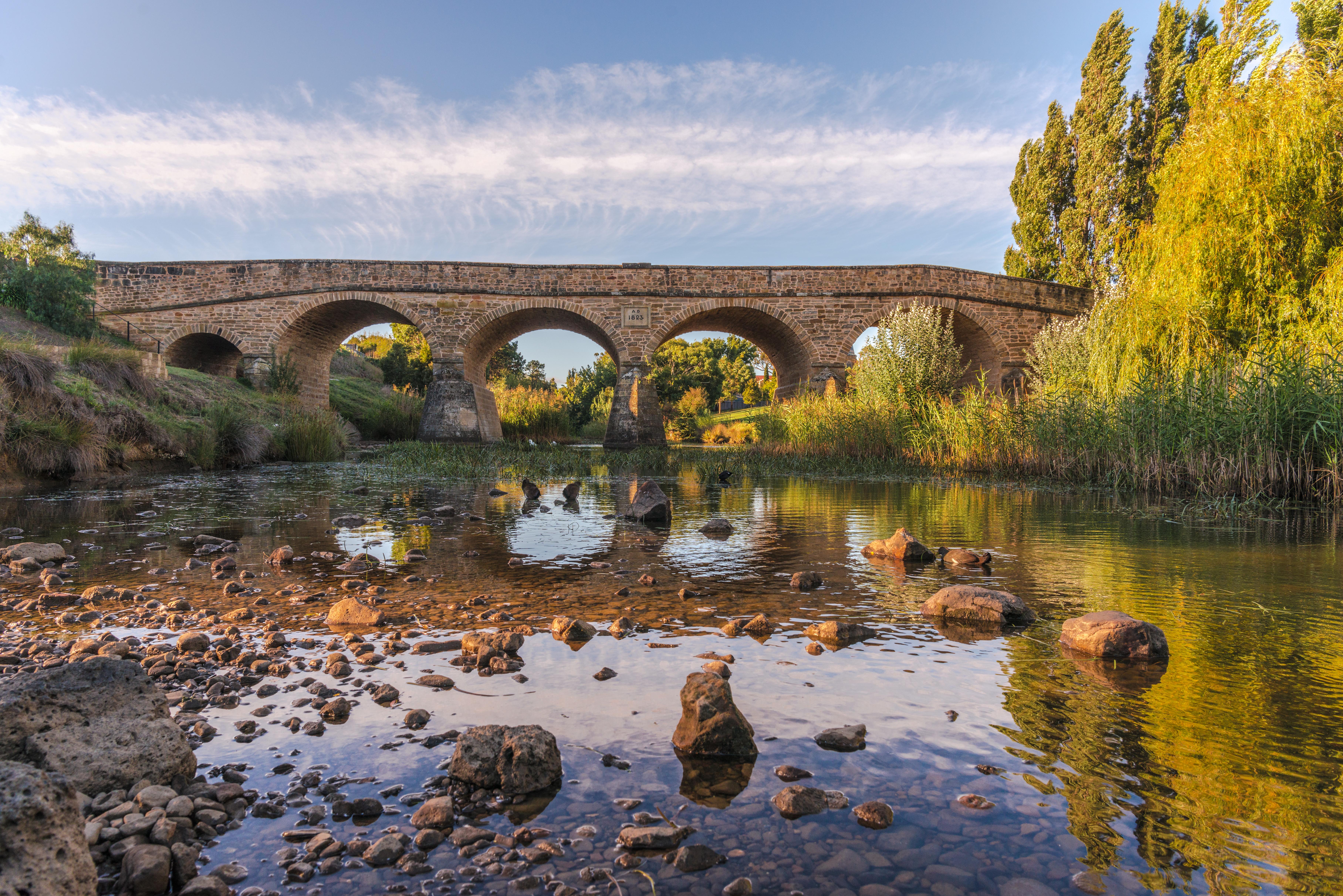 Historische Brücke Richmond Tasmanien