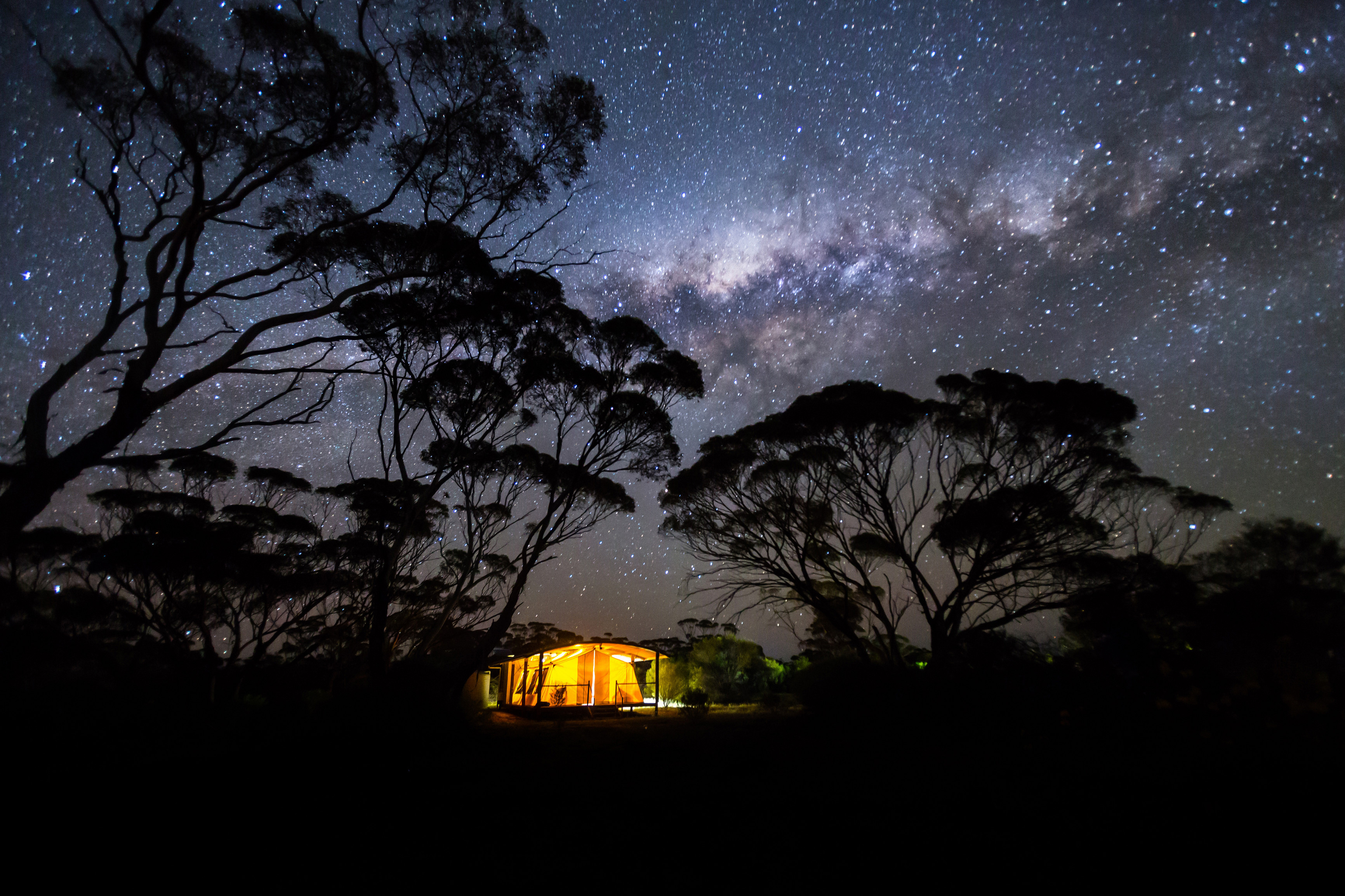Kangaluna Camp by night Gawler Ranges Safari Südaustralien