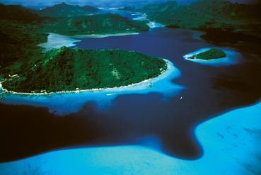 Luftaufnahme Huahine Französisch Polynesien Tahiti