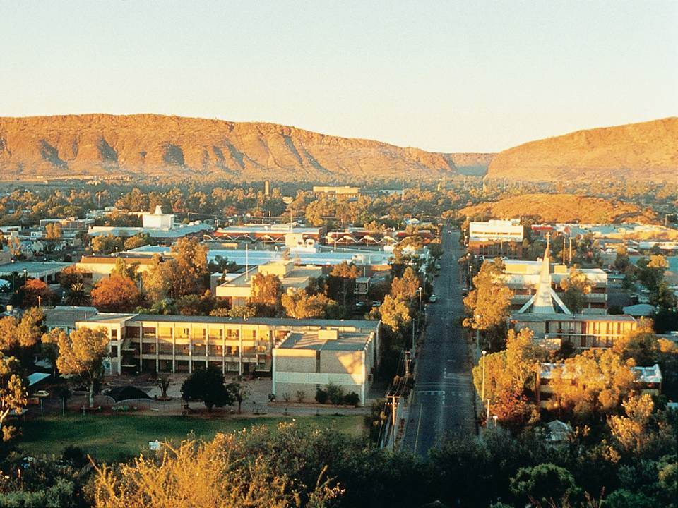 Blick auf Alice Springs Northern Territory Australien