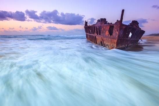 Maheno Wreck Fraser Island K'gari Queensland Australien AU QLD