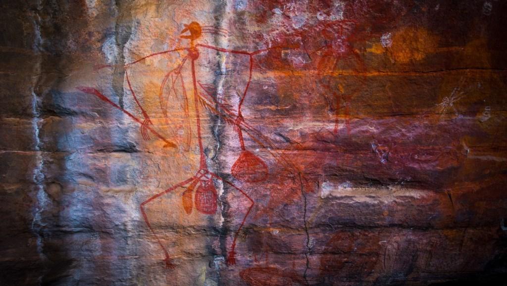 Aborigene Wandmalerei Ubirr Rock Kakadu Nationalpark Northern Territory