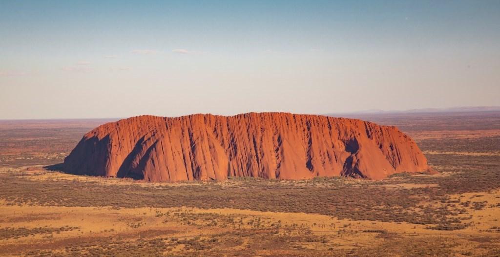 Luftaufnahme Uluru Ayers Rock Northern Territory