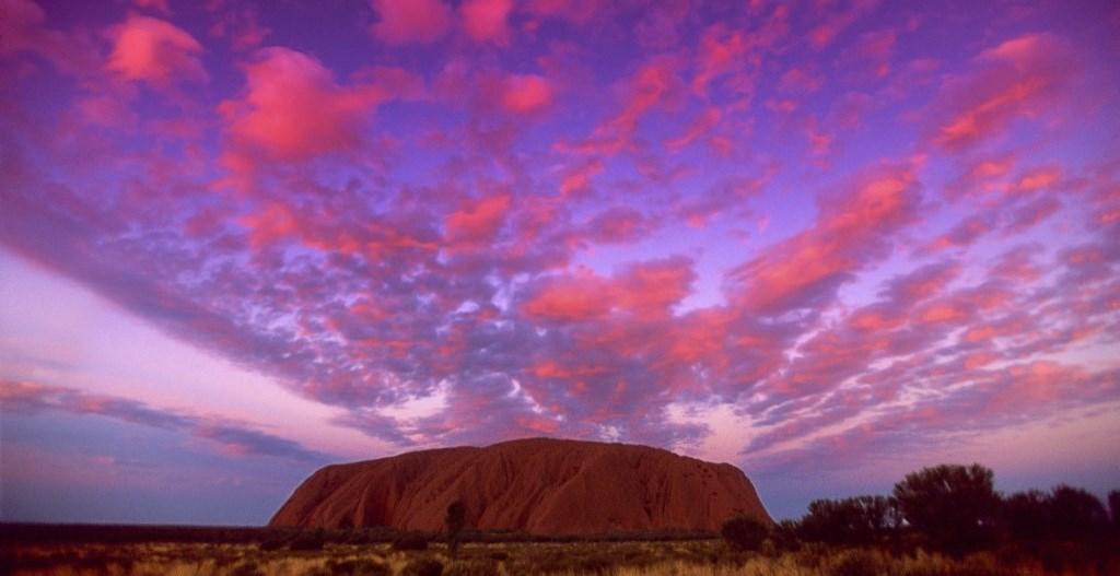 Sunset Sky Uluru Ayers Rock Northern Territory