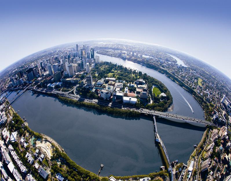Brisbane aus der Vogelperspektive Queensland Australien QLD