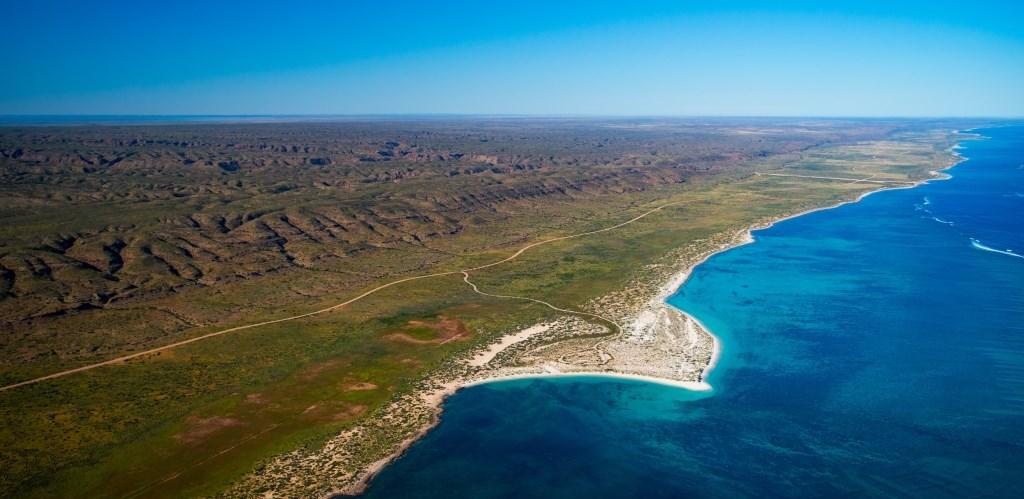 Luftaufnahme Cape Range Nationalpark und Ningaloo Reef Exmouth Westaustralien