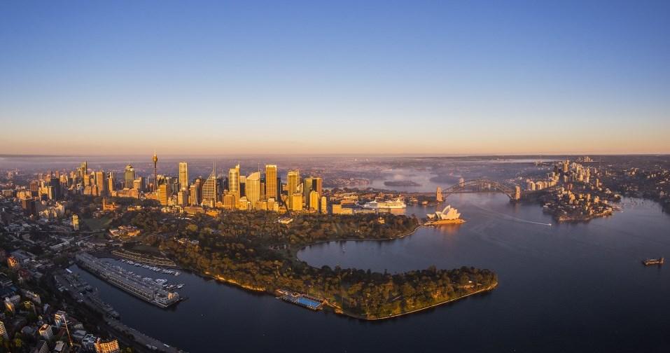 Luftaufnahme Hafen Sydney New South Wales