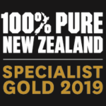 Pure New Zealand Specialist Gold Logo