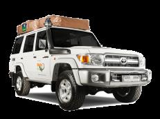 Britz 4WD Camper Double Cab DLE Außenansicht Südafrika Namibia