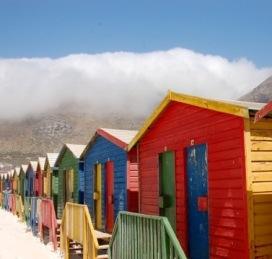 Badehäuser Muizenberg Strand Kapstadt Südafrika Quadrat ZA