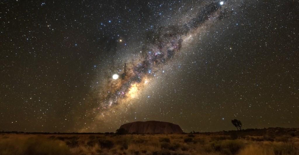 Sternenhimmel über Uluru Ayers Rock Northern Territory