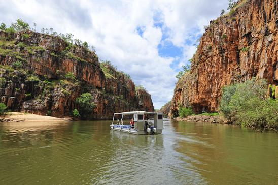 Bootsfahrt in der Katherine Gorge Nitmiluk Nationalpark Northern Territory Australien