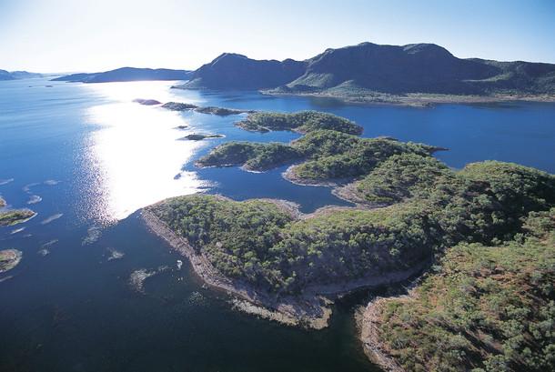 Luftaufnahme Lake Argyle Kununurra Westaustralien WA