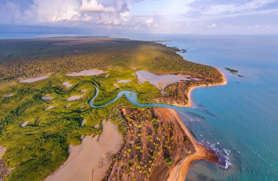 Luftaufnahme Wetlands bei Darwin Northern Territory