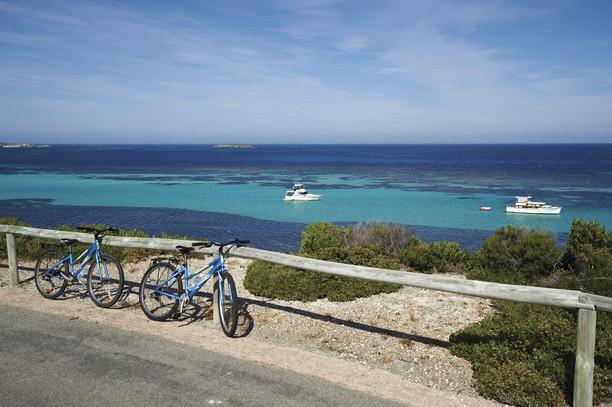 Fahrradtour auf Rottnest Island Perth Westaustralien WA