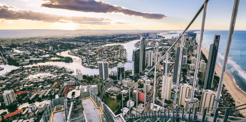 Ausblick Skypoint Climb Gold Coast Queensland
