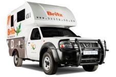 Britz 4WD Camper Nissan Single Cab Navi Außenansicht Südafrika Namibia