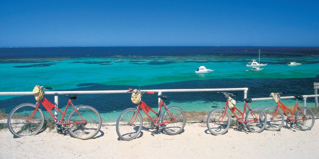 Fahrradtour auf Rottnest Island Perth Westaustralien