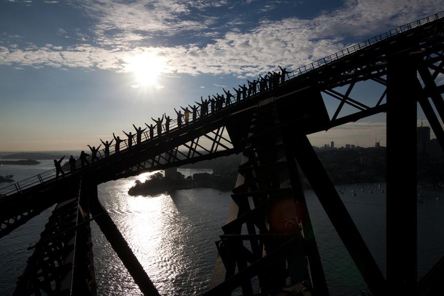 Harbour Bridge Climb Sydney New South Wales Australien