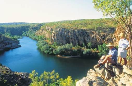 Wanderung am Rand der Katherine Gorge Nitmiluk Nationalpark Northern Territory Australien NT