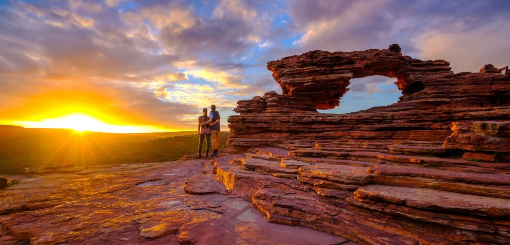 Sunset Nature's Window Kalbarri Nationalpark Westaustralien