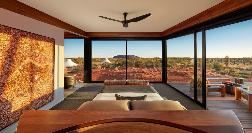 Ausblick vom Longitude 131 Uluru Northern Territory