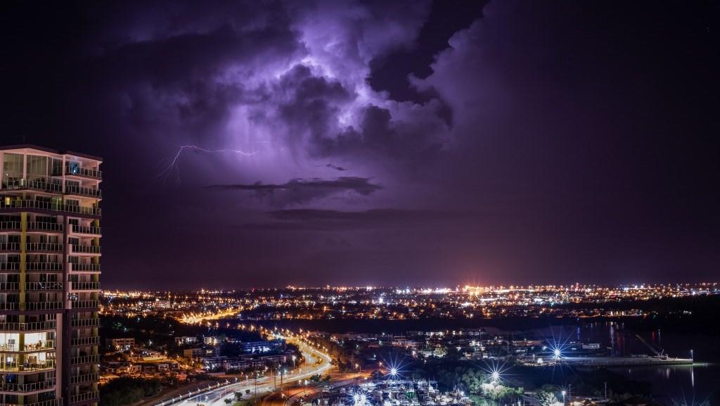 Gewitter über Darwin Northern Territory