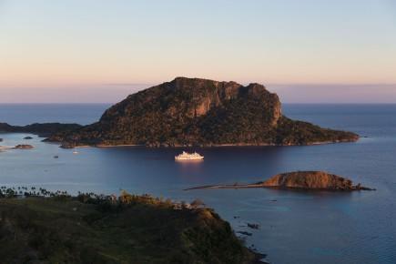Sonnenuntergang bei Sawailau Captain Cook Cruises Fidschi