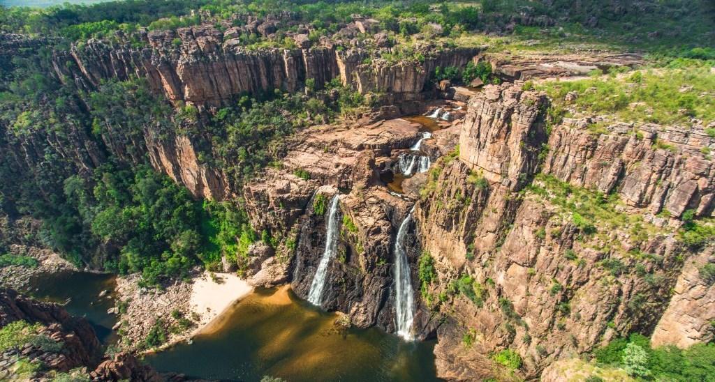 Luftaufnahme Twin Falls Kakadu Nationalpark Northern Territory