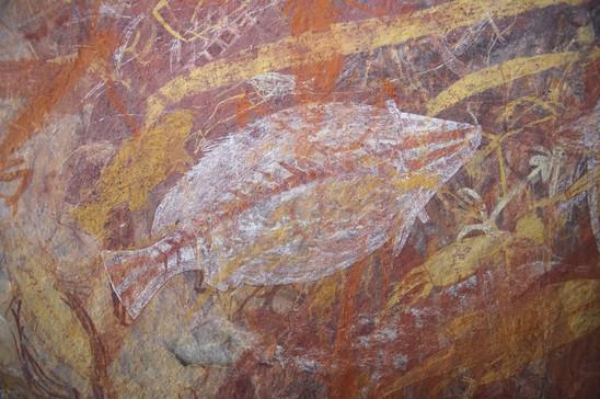 Aborigene Wandmalerei Ubirr Rock Kakadu Nationalpark Northern Territory Australien