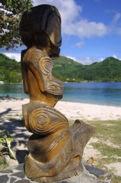 Tiki Huahine Französisch Polynesien Tahiti