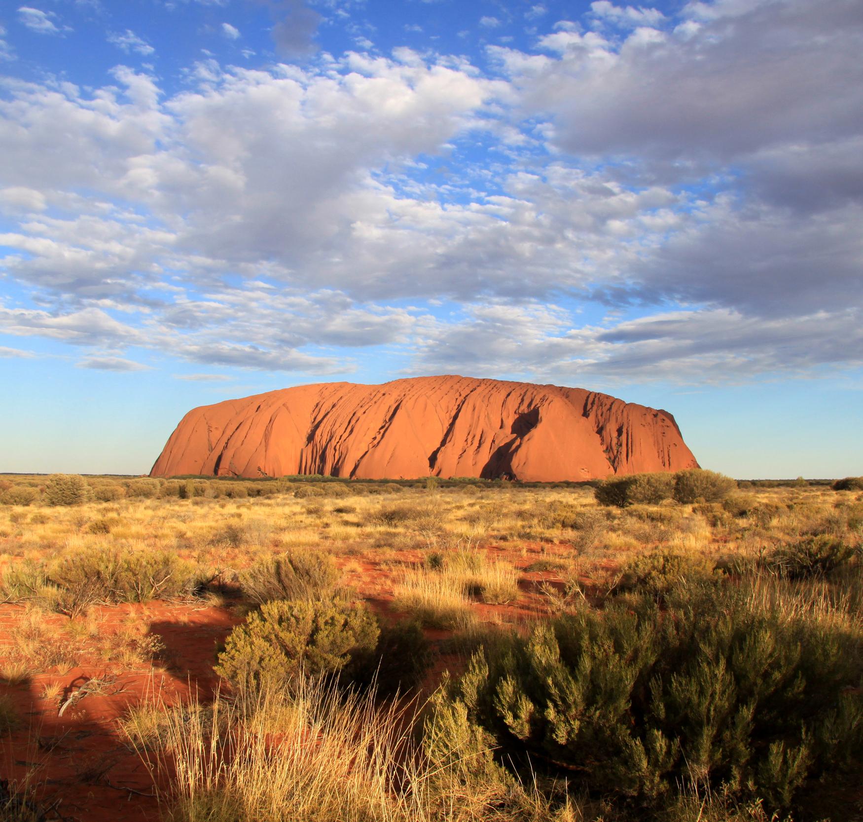 Uluru Ayers Rock Northern Territory Australien Quadrat