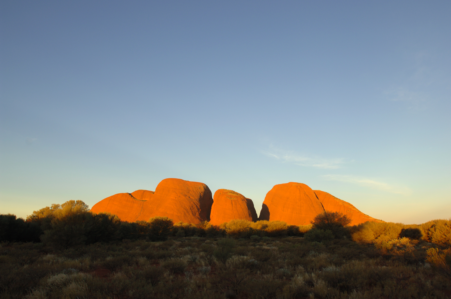 Sonnenaufgang Olgas Kata Tjuta Northern Territory Australien