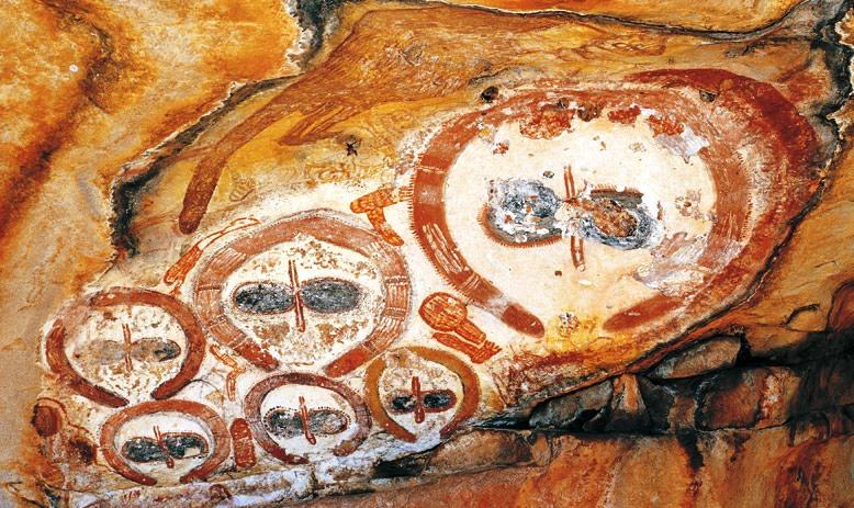 Gondwana Aborigene Rockart Kimberleys Westaustralien WA