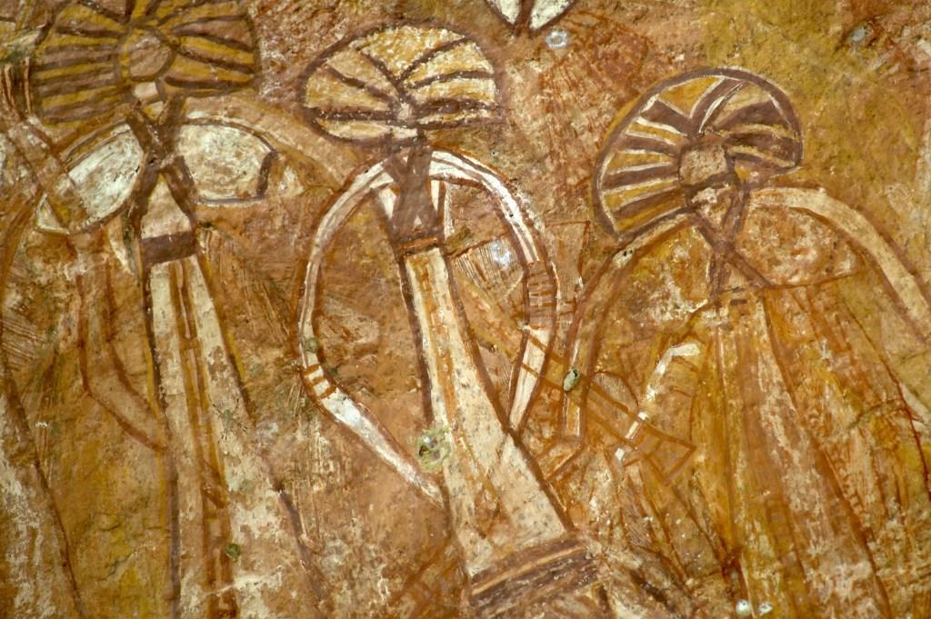 Aborigene Wandmalerei Burrungkuy Nourlangie Rock Kakadu Nationalpark Northern Territory