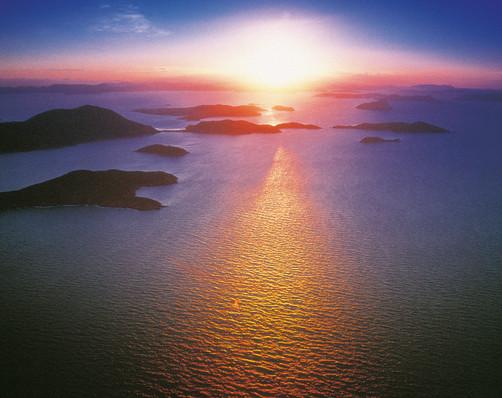 Luftaufnahme Whitsunday Islands Queensland QLD Australien AU