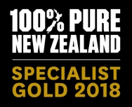 Logo 100% Pure New Zealand gold Specialist